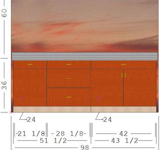 Run horizontal grain matched doors